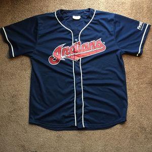 Cleveland Indians Charles Nagy Promo Jersey Size L